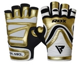 RDX Sports GYM GLOVE PAPER LEATHER S9 GOLDEN