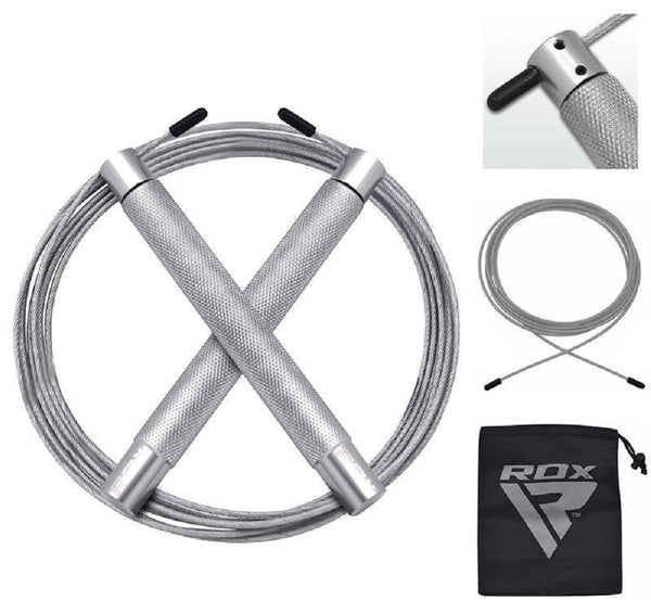 RDX Sports SKIPPLING ROPE IRON SRI-C4 SILVER