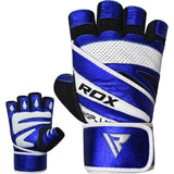 RDX Sports GYM GLOVE PAPER LEATHER L10 BLUE