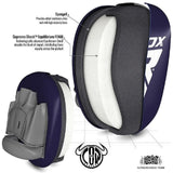 RDX Sports FOCUS PAD LEATHER PRO 3 BLUE