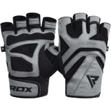 RDX Sports GYM GLOVE LEATHER S12 GRAY