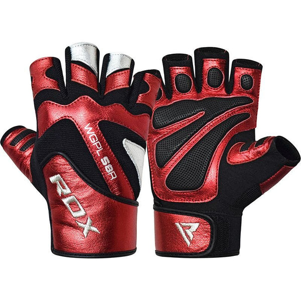 RDX Sports GYM GLOVE PAPER LEATHER RED