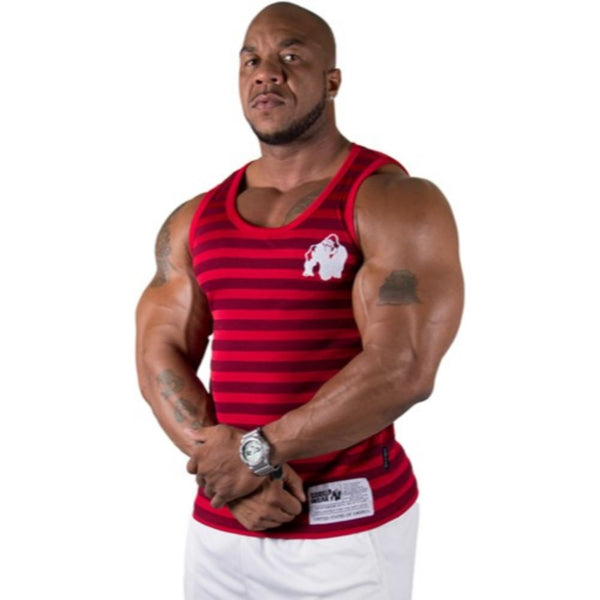 Gorilla Wear Stripe Stretch Tank Top