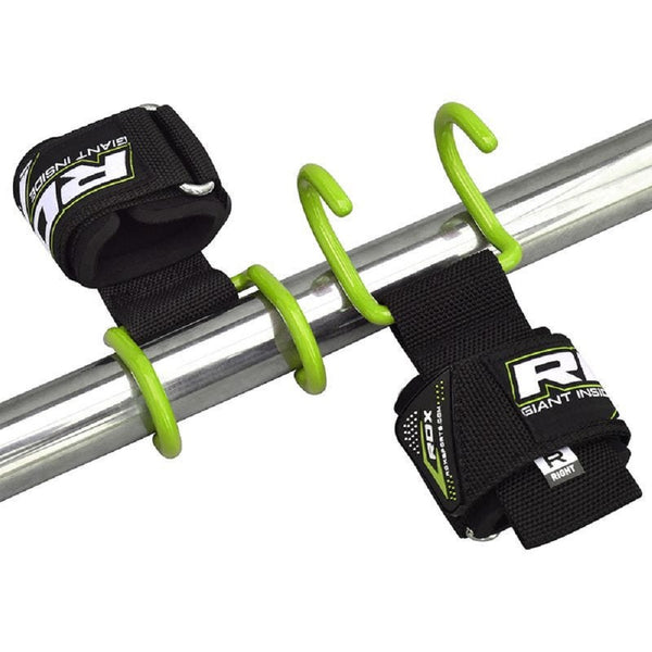 RDX Sports GYM PRO HOOK 15 STRAP GREEN new