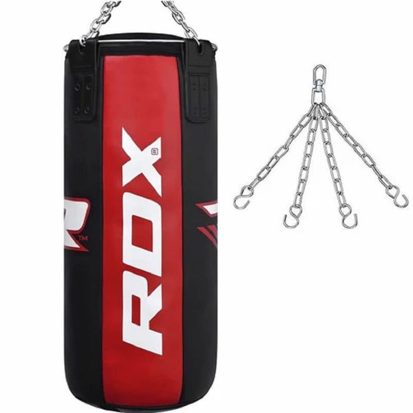 RDX Sports PUNCH BAG BLACK/RED-3FT