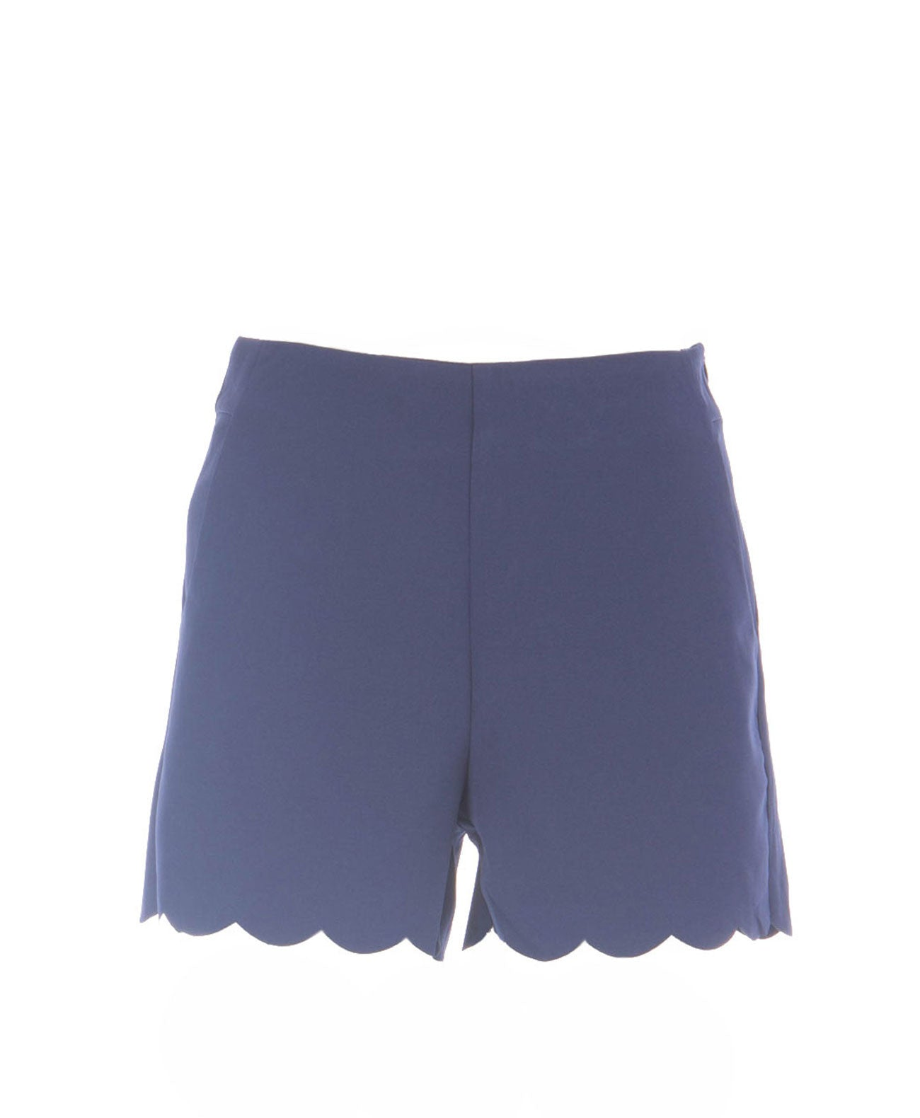 Blue Scalloped Shorts - Koko & Palenki - 1
