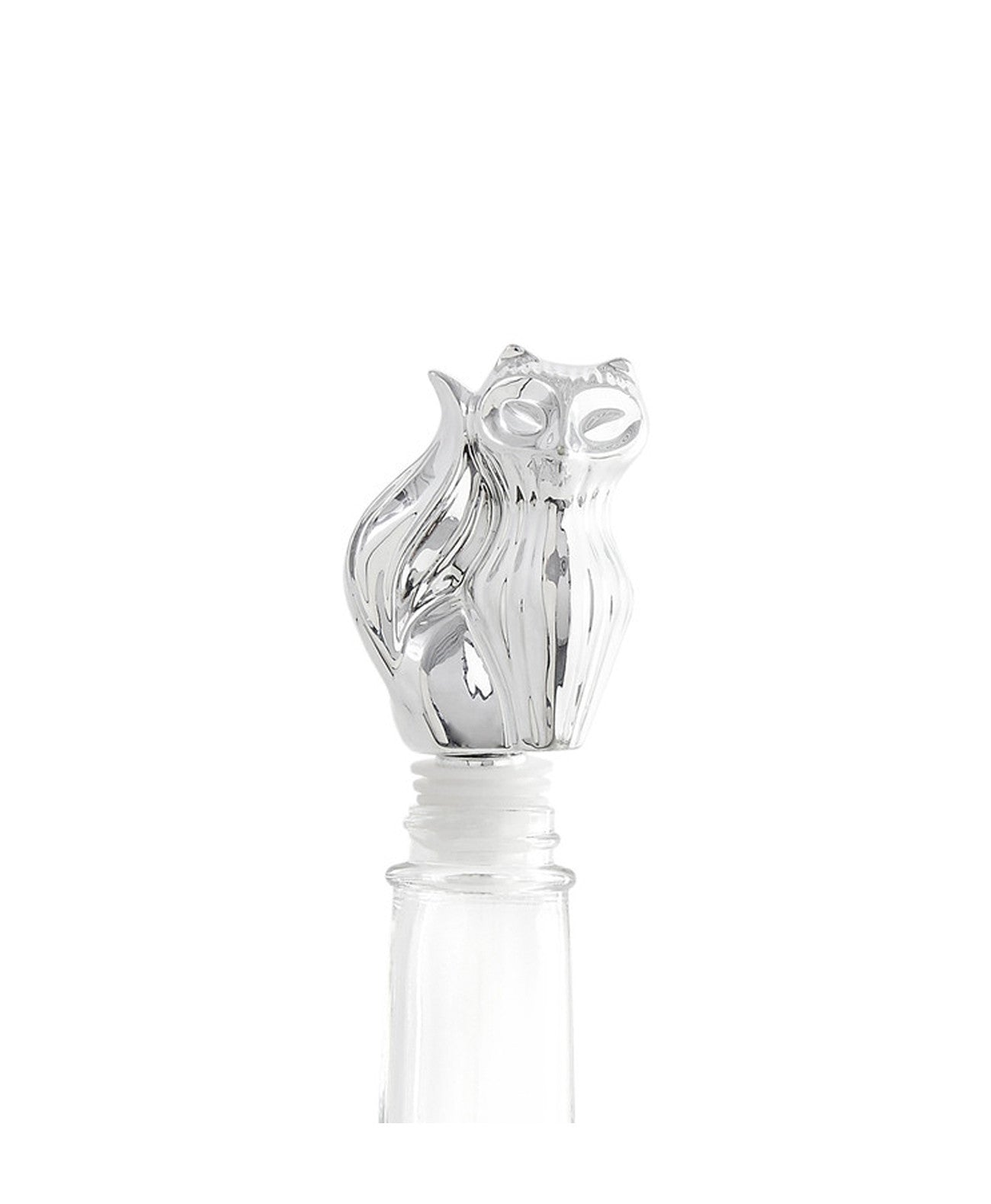 Silver Fox Bottle Stopper - Koko & Palenki