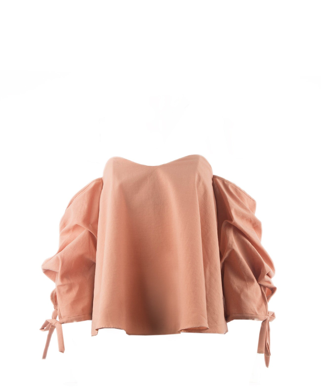 Zoe-Sand Cold Shoulder Ballon Top