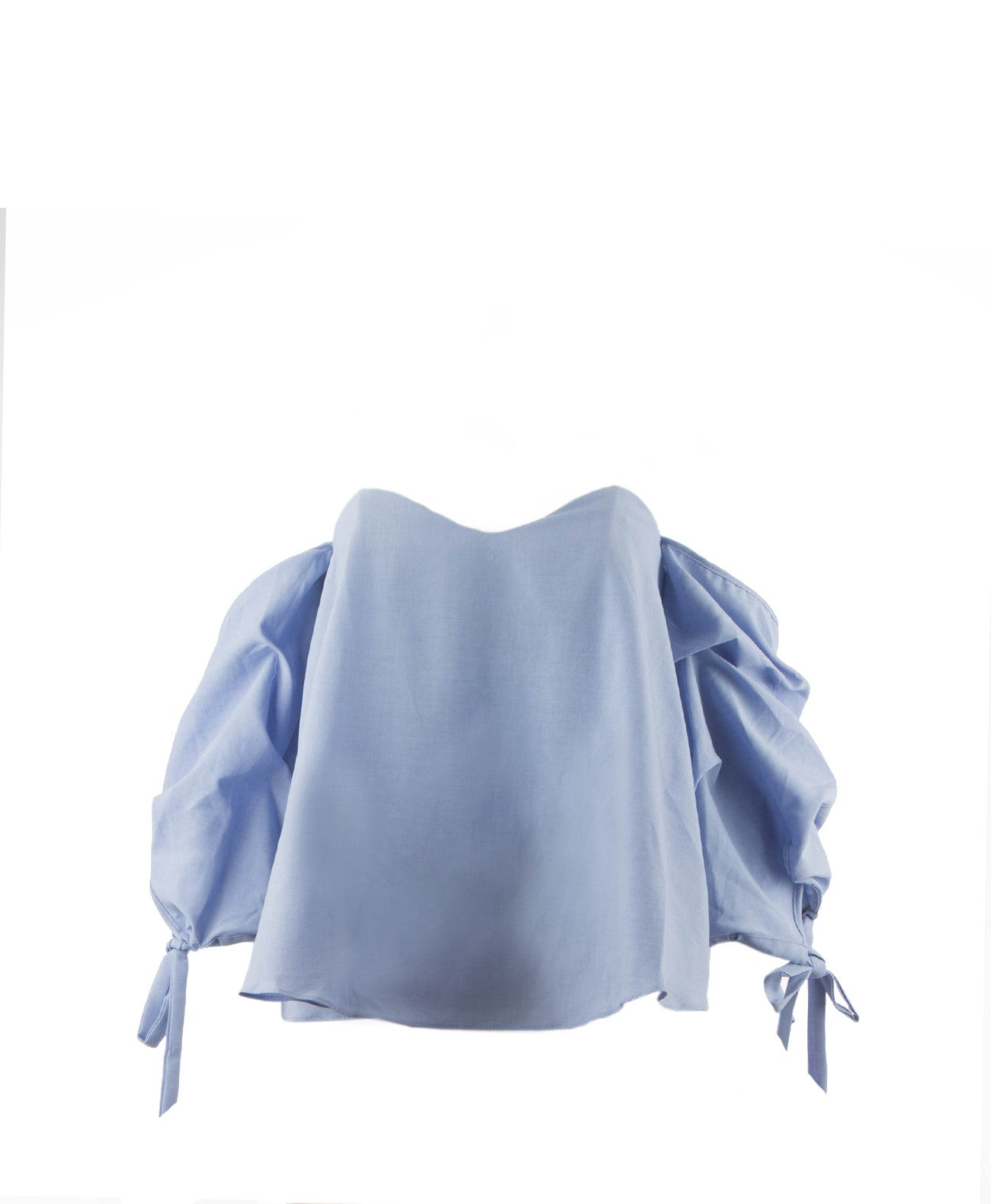 Zoe Cold Shoulder Ballon Top Blue