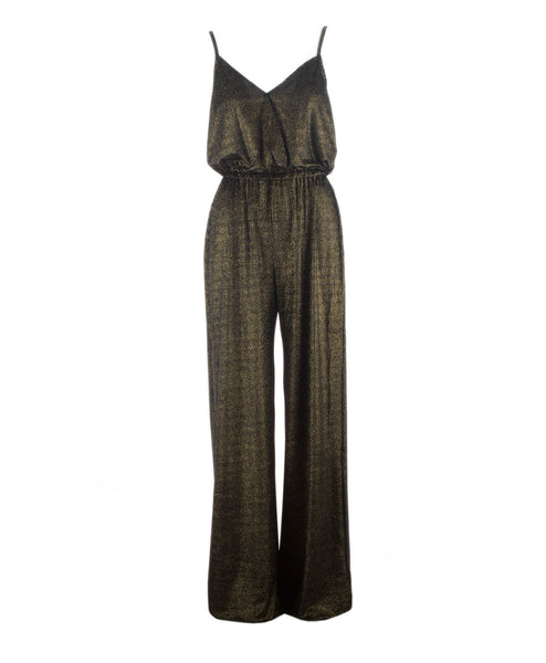 Jagger Golden Glam Wide Leg Jumpsuit