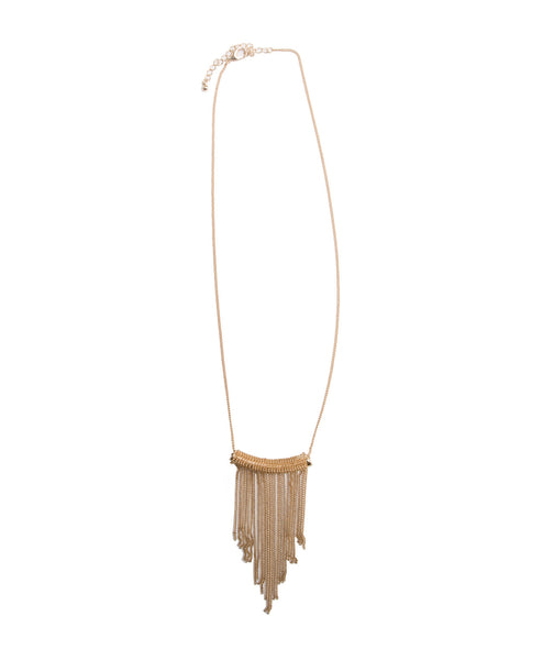 Gold Necklace w/ Fringe chains