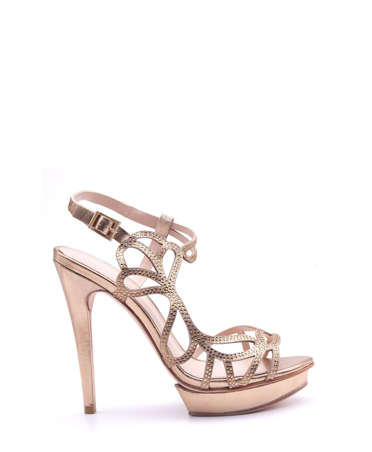 Fey Gold Asymmetrical High Heel - Koko & Palenki - 1