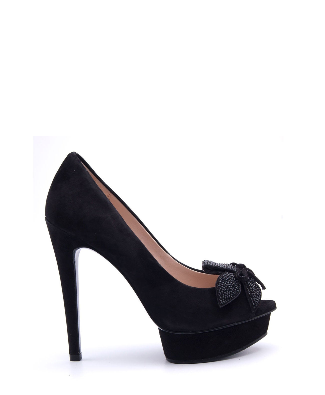 Mamet 2 Black Flower Pump - Koko & Palenki - 1
