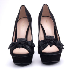 Mamet 2 Black Flower Pump - Koko & Palenki - 3