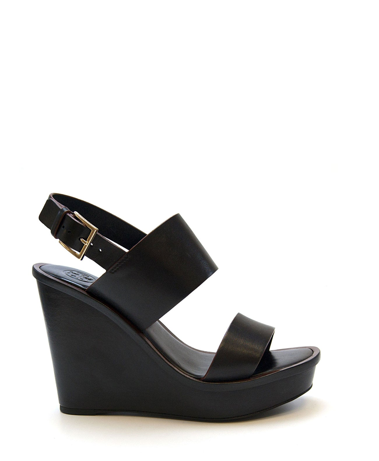 Lexington Wedge Sandal (Black) by Tory Burch - Koko & Palenki - 1
