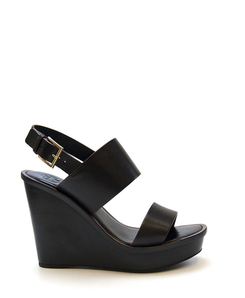 Lexington Wedge Sandal (Black) by Tory Burch