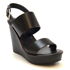 Lexington Wedge Sandal (Black) by Tory Burch - Koko & Palenki - 3