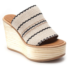 Bamboo Wedge Slide in White - Koko & Palenki - 2
