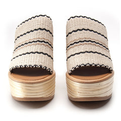 Bamboo Wedge Slide in White - Koko & Palenki - 3