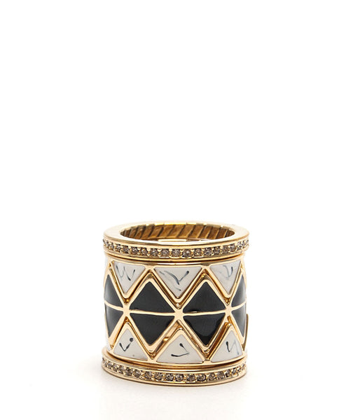 Reflector Stack Ring (Black) by House of Harlow 1960