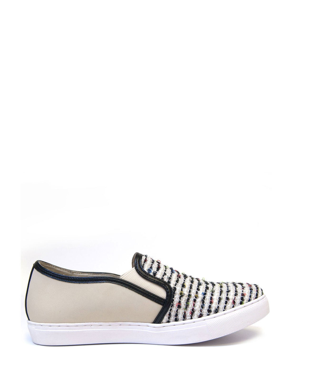 Sammi Woolen Slip-On Sneaker (Off White) by J Slides - Koko & Palenki - 1