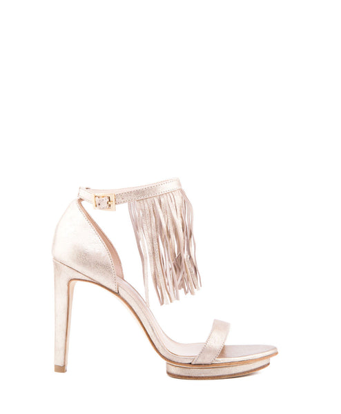 Taft 3 Fringe High Heel in Platinum