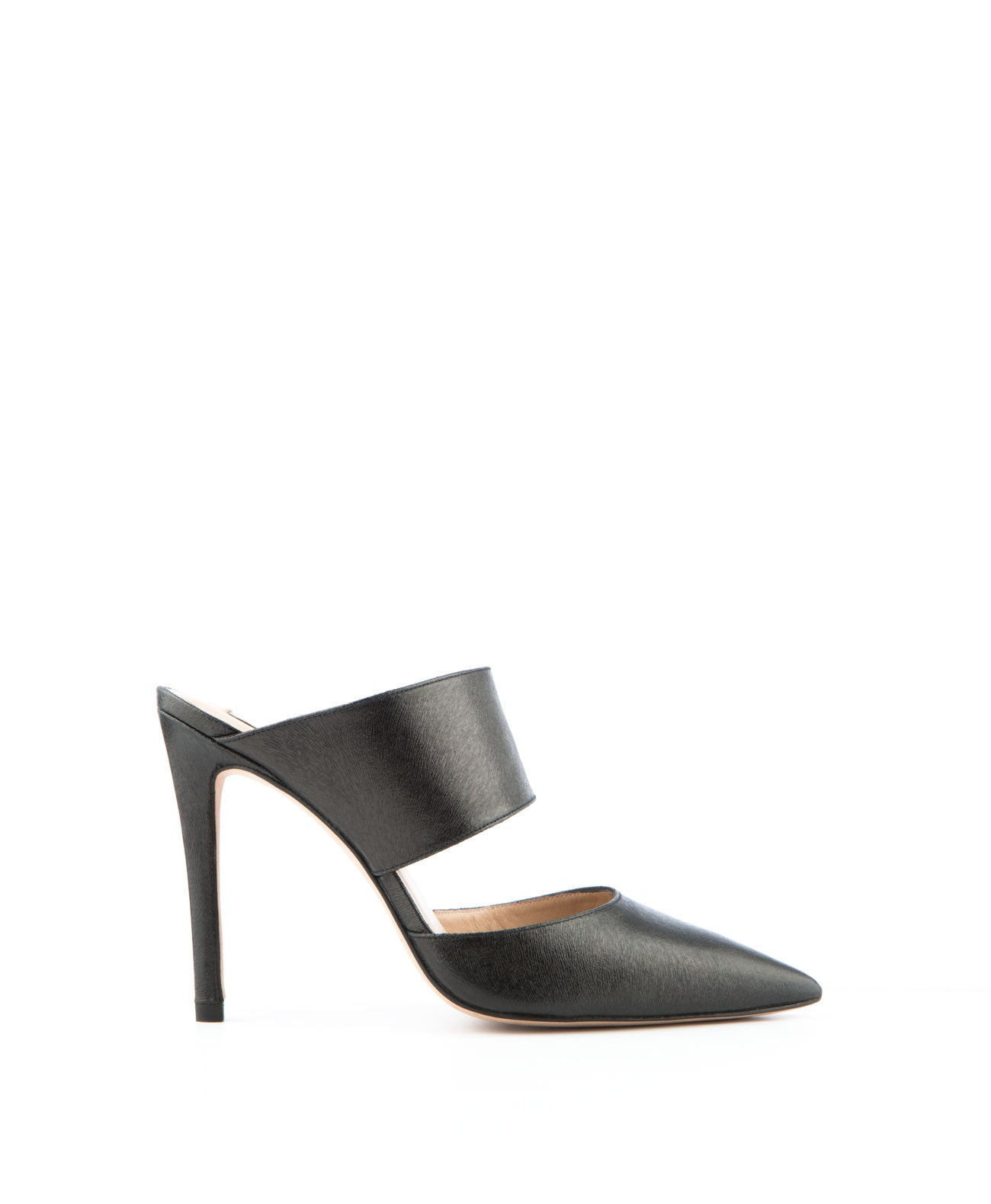 Black Resin Leather Mule - Koko & Palenki - 1