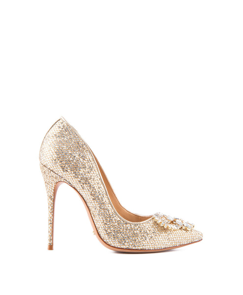Eliss Glitter Pump in Gold