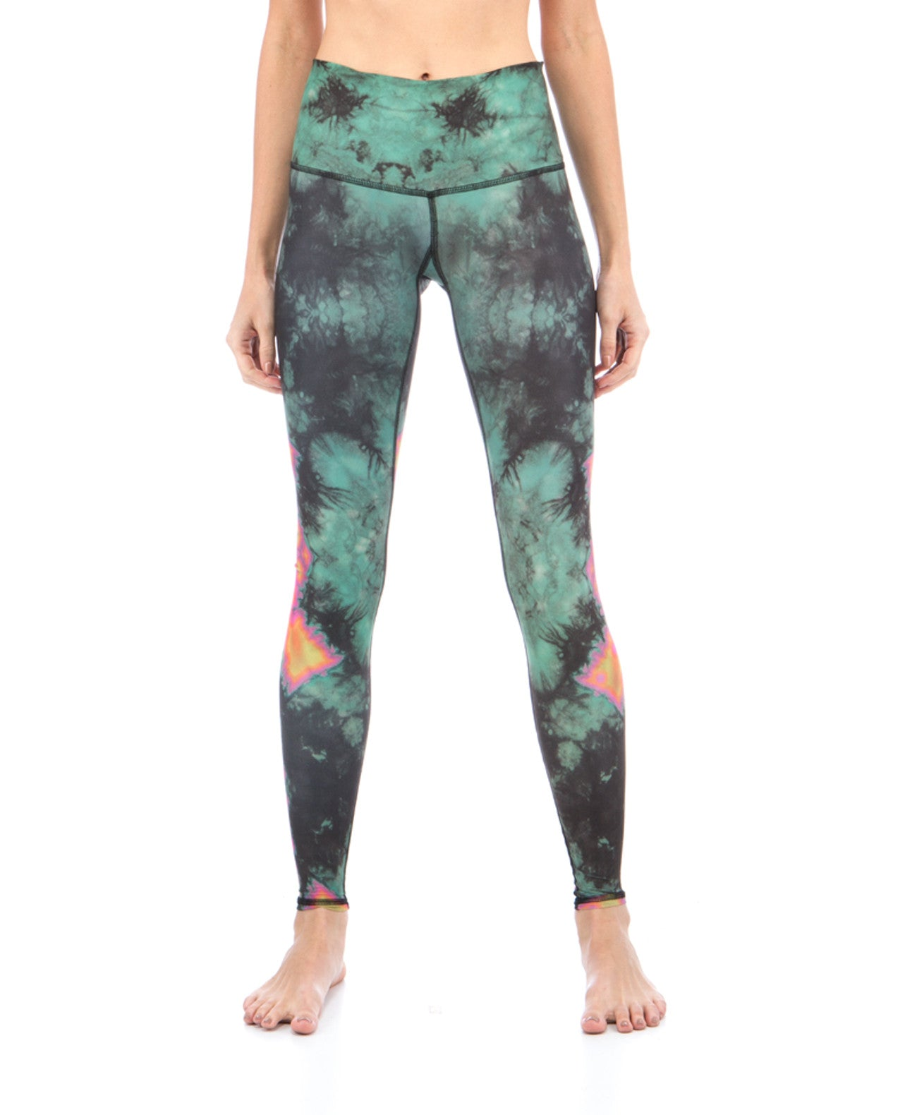 Eagle Feather Green Leggings - Koko & Palenki - 1