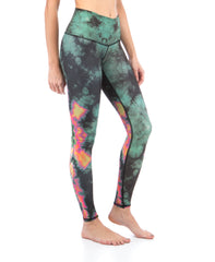 Eagle Feather Green Leggings - Koko & Palenki - 2