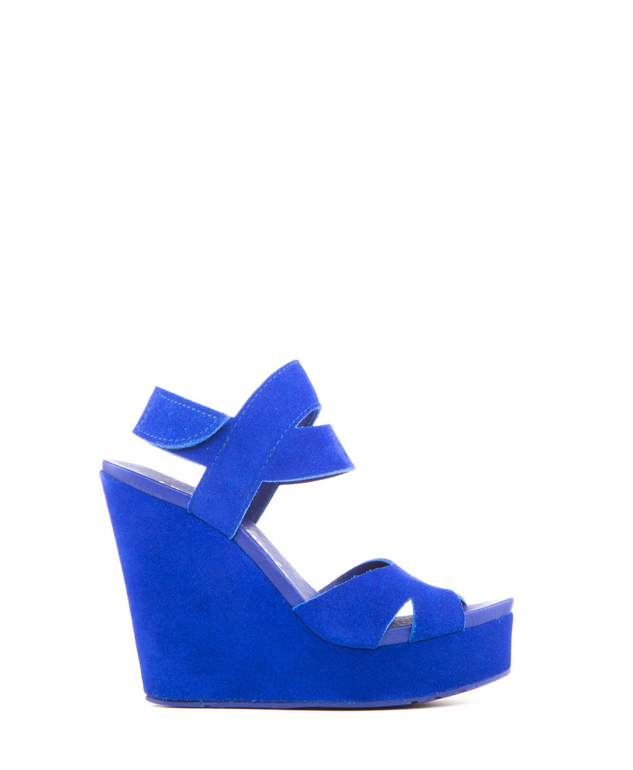 Teilor Castoro Suede Wedge in Blue - Koko & Palenki - 1