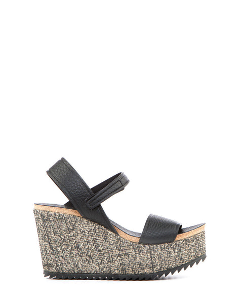 Dorothy Black Cervo Wedge