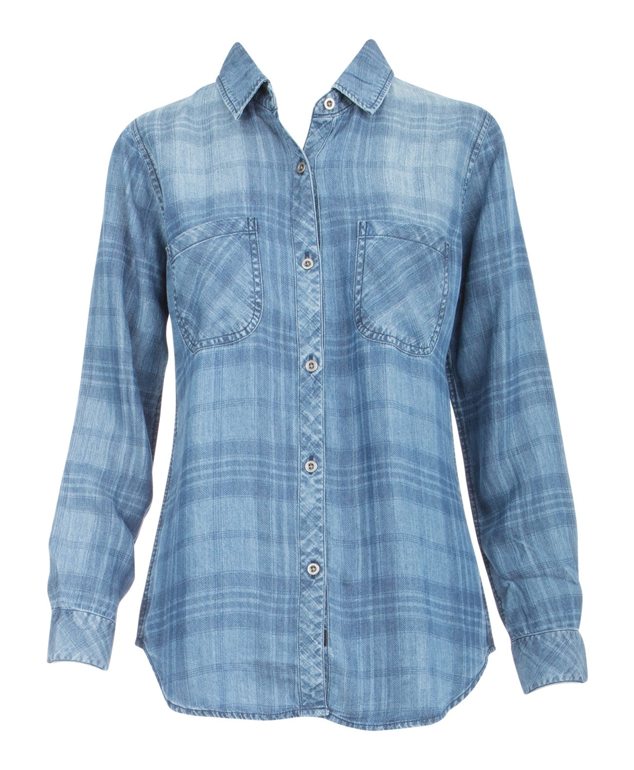 Carter Plaid Denim Shirt - Koko & Palenki - 1