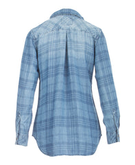 Carter Plaid Denim Shirt - Koko & Palenki - 2