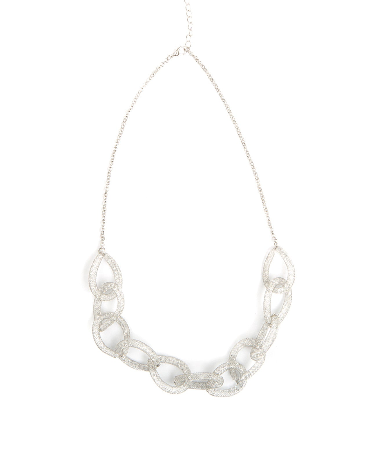 CRYSTAL FILLED CHAIN-LINK NECKLACE - Koko & Palenki