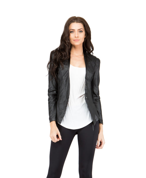 Koko_Jacket Vegan Leather Stretch Blazer