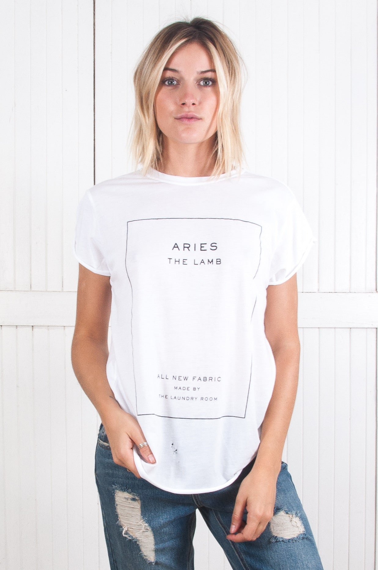 Aries Rolled Sleeve Tee - Koko & Palenki