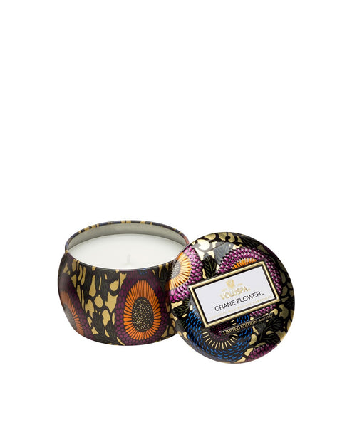 72110_CraneFlower Japonica Petite tin candle