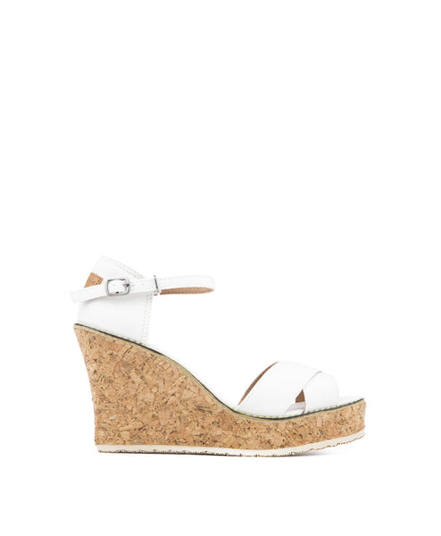 Mari Stacked Cork Wedge