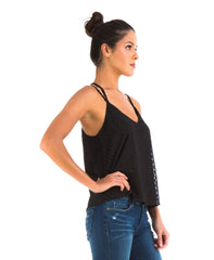Textured Tank in Black - Koko & Palenki - 2
