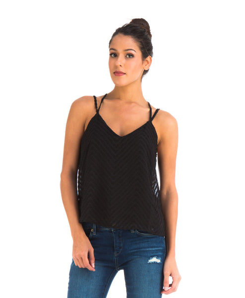 Textured Tank in Black