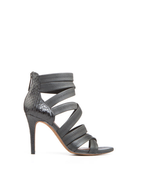 Arlen Strappy High Heel w/ Back Zipper
