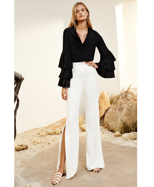 Aubree Wide Leg Pant with Side Slits