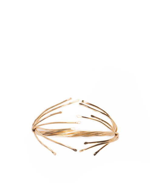18k Gold Plated Double Flare Cuff