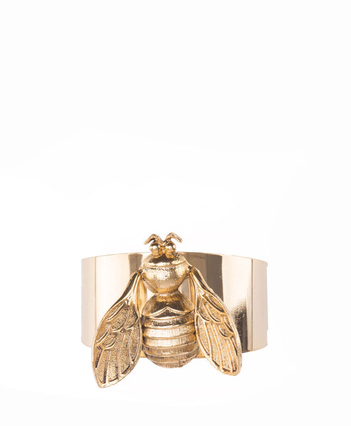 18k Gold Plated Bee Cuff