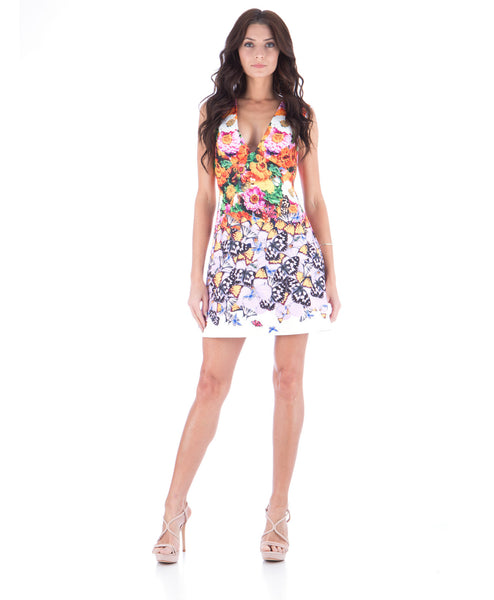 Butterfly Petals Mini Dress