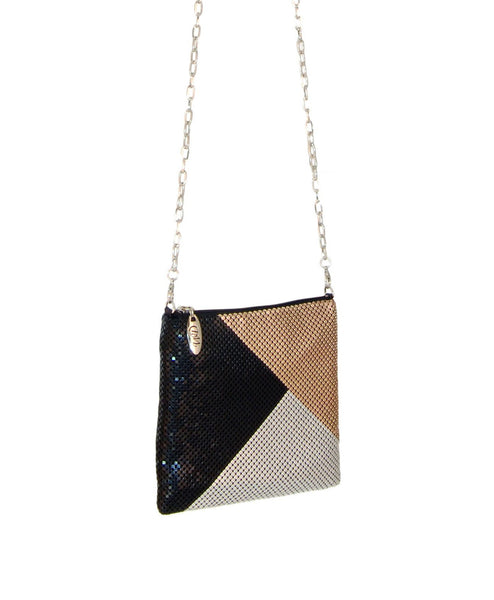 Block_dance_bag_blk WD Whiting & Davis Color Block Dance Bag