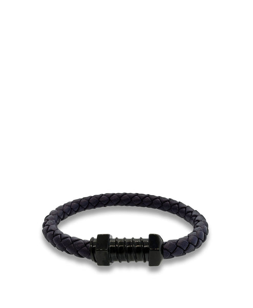 Nappa Braided Leather Boss Bracelet
