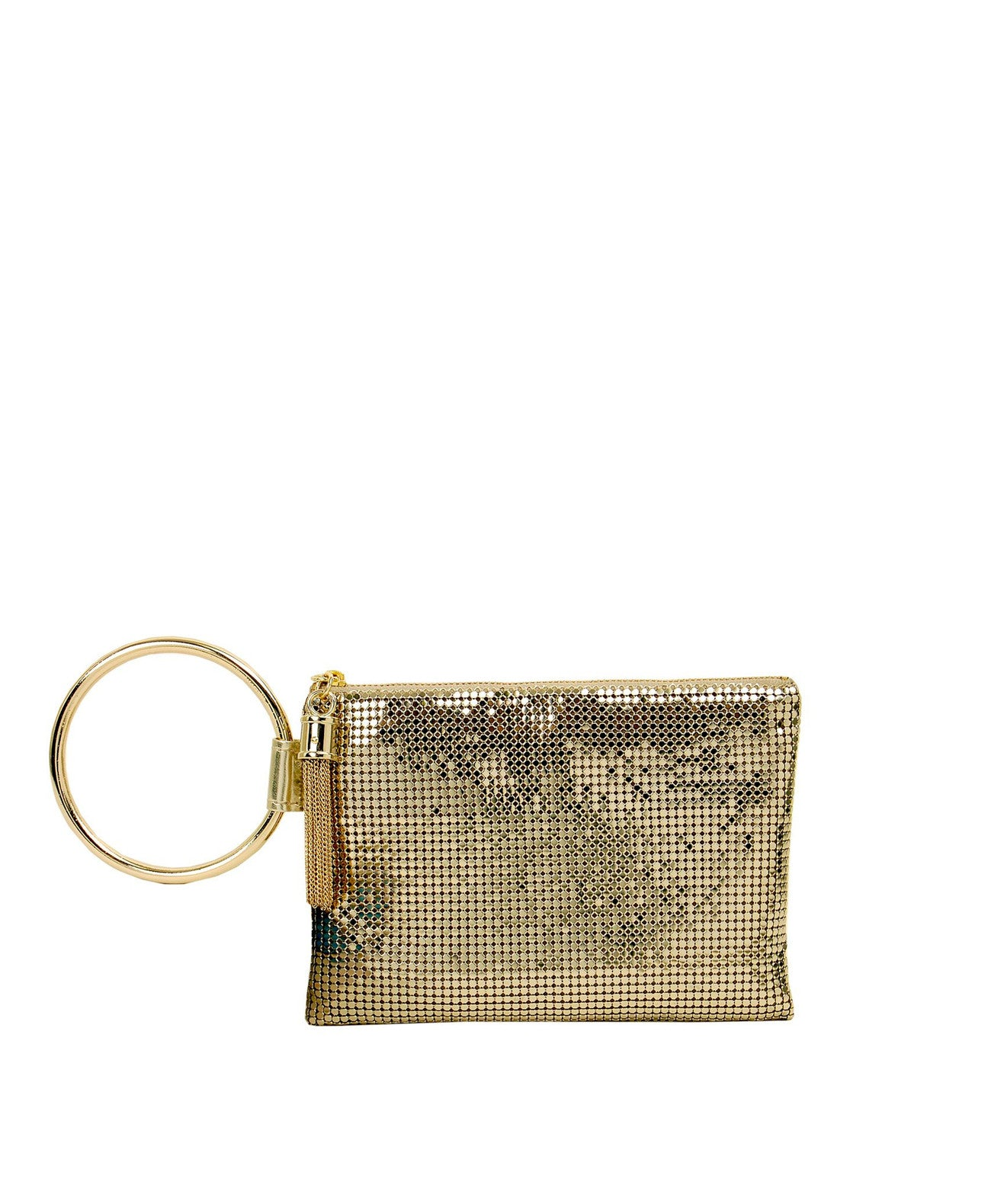 Bracelet_bag_gold Whiting & Davis Chain Tassel Bracelet Bag