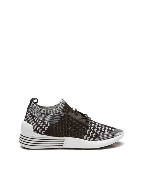 Brandy Woven knit lace-up trainer